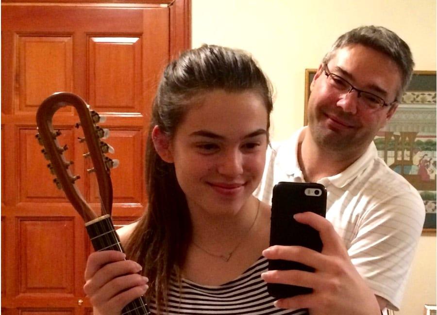 Me and Alexandra with new Richard Morgan Mandolin